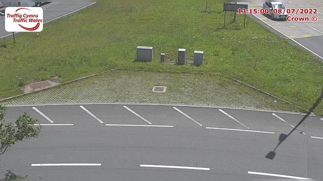 Webkamera Pentyrch: Cardiff − M4 westbound at junction 33 (C