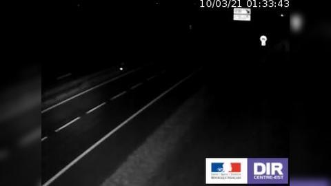 Webcam de circulation sur l'A38 à hauteur de Civry-en-Montagne (Côte d'Or) et en direction de Dijon