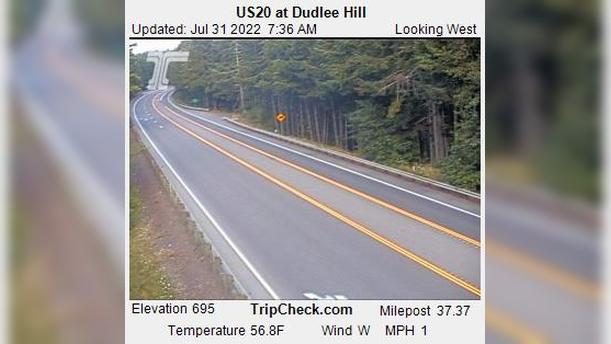 Webcam Blodgett: US20 at Dudlee Hill