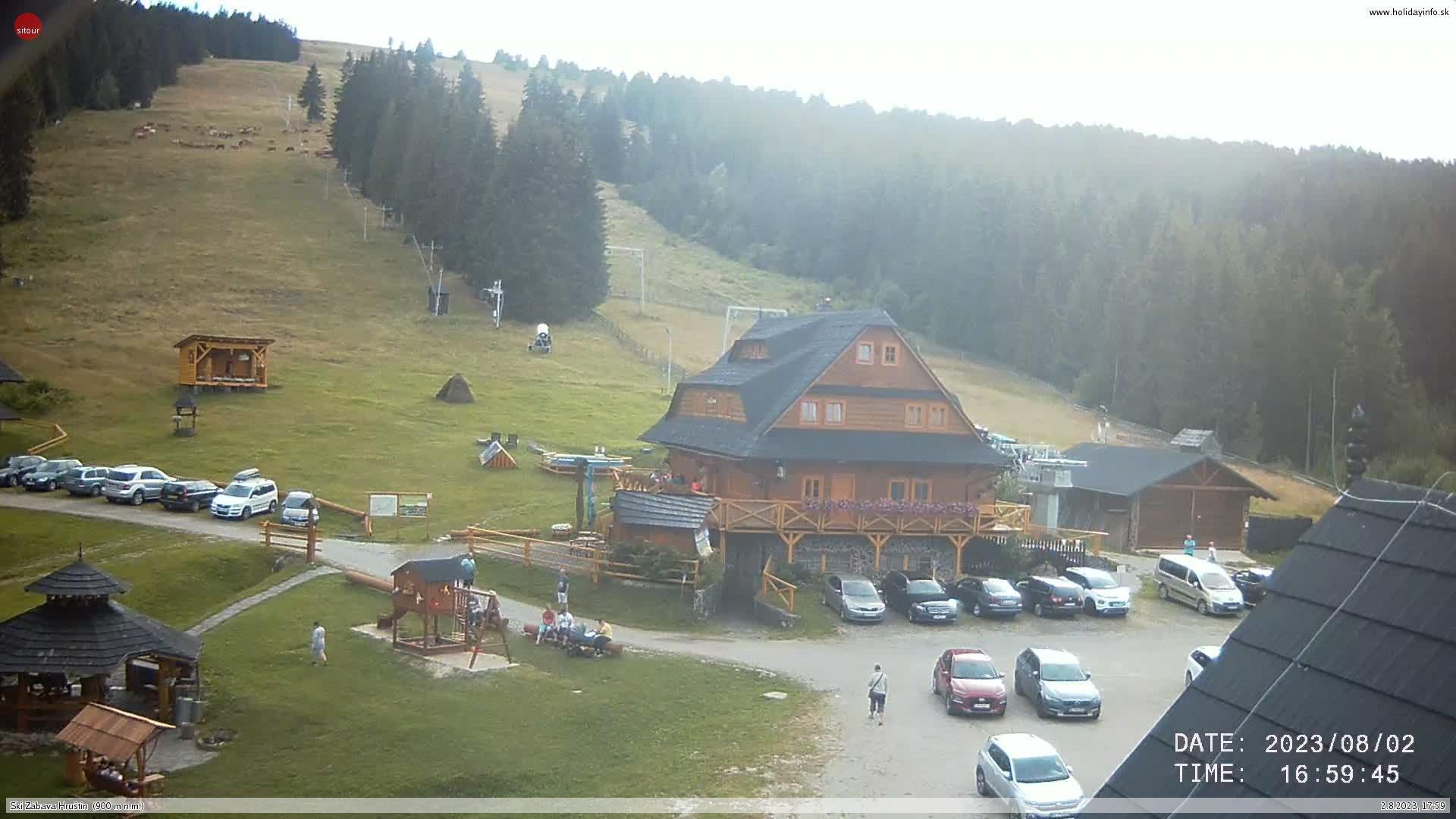 Webcam Klobučná: Ski Zábava Hruštín