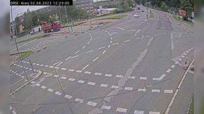 Vue webcam de jour à partir de Kranj: R2 412 − Ljubljanska cesta