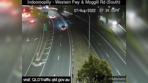 Webcam Indooroopilly: Western Freeway and Moggill Road (l