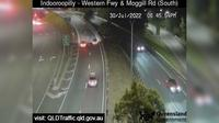 Brisbane City: Indooroopilly - Western Freeway and Moggill Road (looking South)