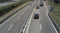 Trento: SS_km , Comune di - vista del tratto U-U in direzione SUD - Overdag