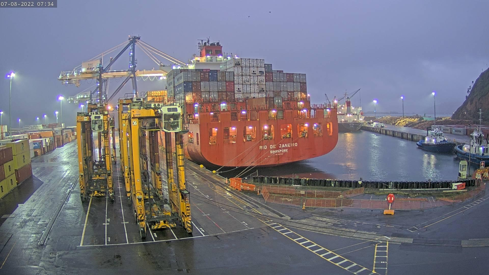 Webkamera Port Chalmers › North-East: Main Container Whalf