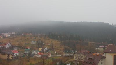 Vue webcam de jour à partir de Skhidnytsya › South: Апартаменти