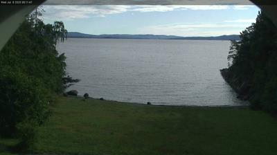 Vue actuelle ou dernière à partir de Slemmestad: Oslo, Oslofjord − Bjerkåsholmen