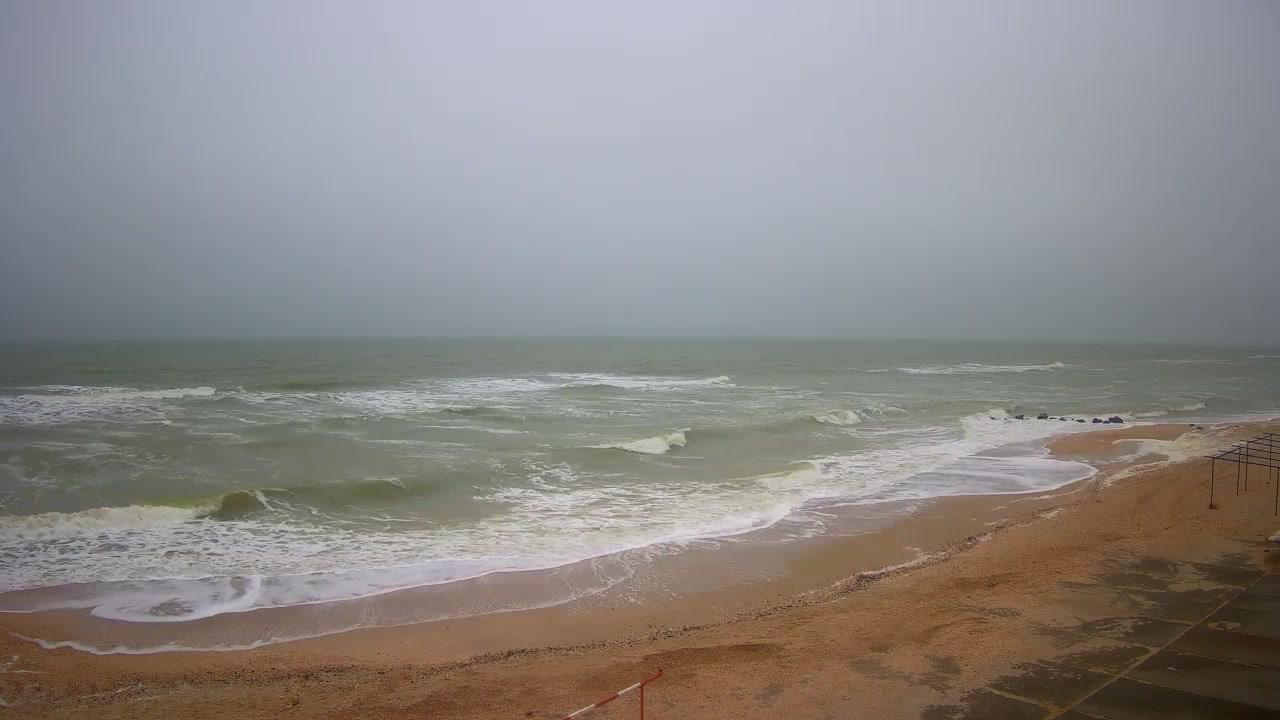 Webcam Кирилівка: Азовское море, Кирилловка, пляж санатор