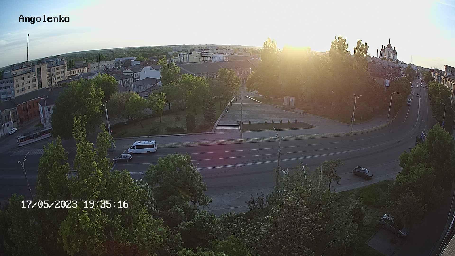 Webcam Zaporizhia: пр. Ленина, Памятник чекистам и десант