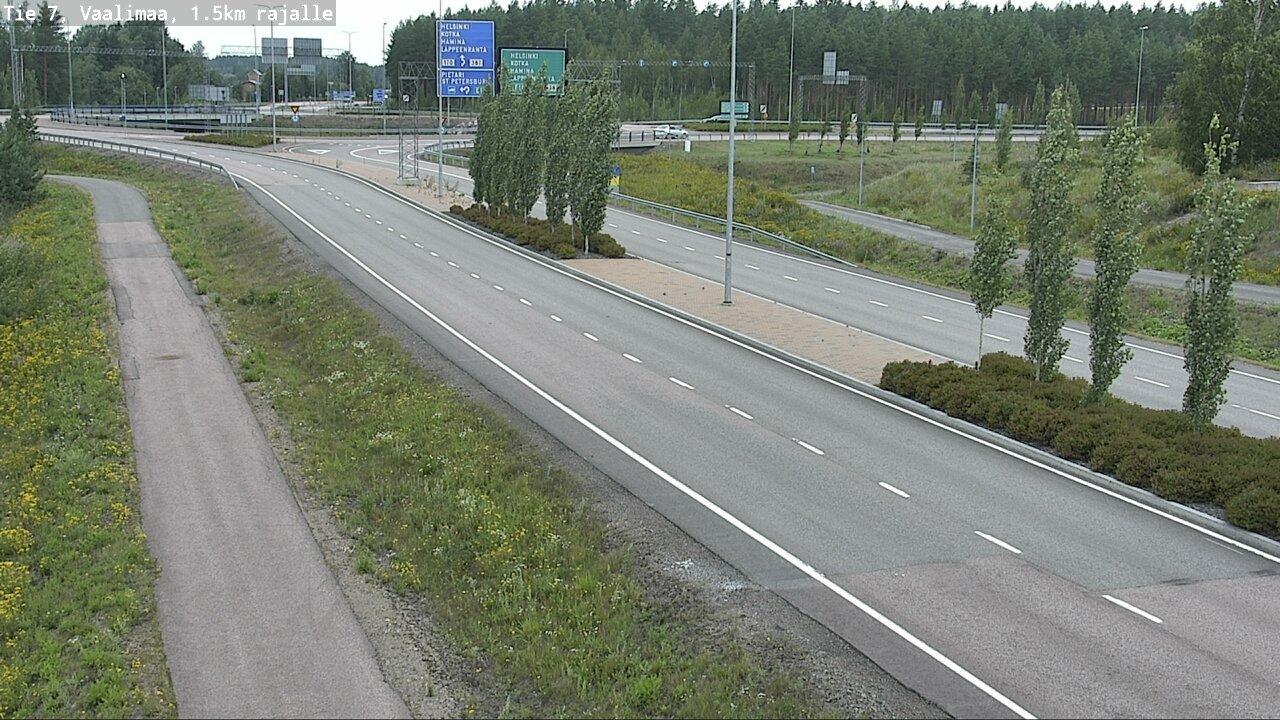 Webkamera Virolahden Kirkonkylä: Tie 7 Lappeenrannantien ris