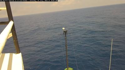Daylight webcam view from Bombilia House: Greenpeace, The Arctic Sunrise