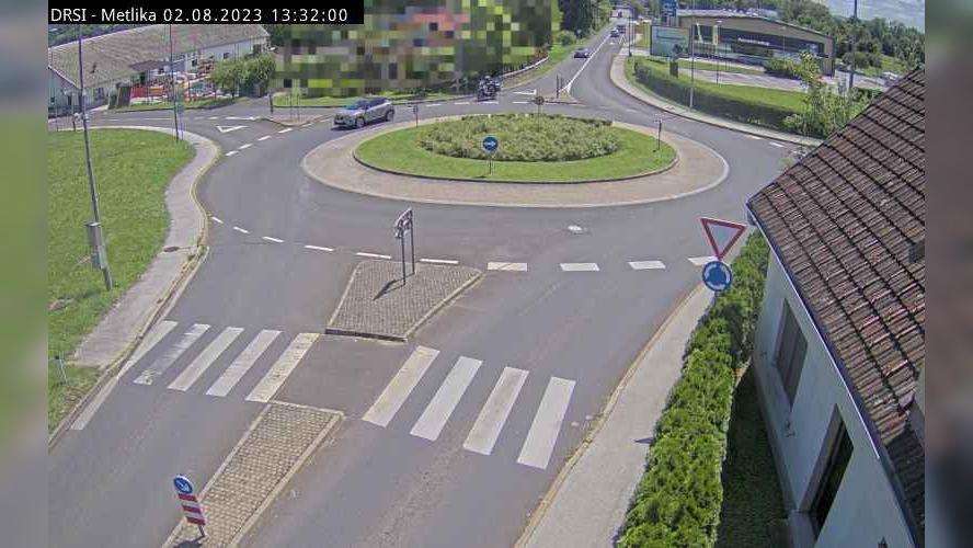 Webcam Križevska Vas: G2-105, Metlika − Most čez Kolpo, M