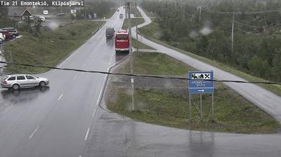 Daylight webcam view from Enontekiö: Tie 21 − Kilpisjärvi − Tornioon