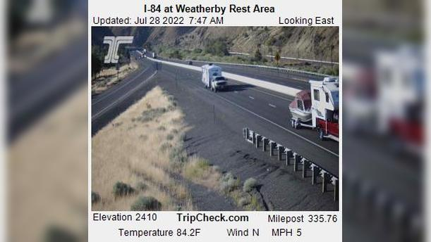Webcam Weatherby: I-84 at − Rest Area