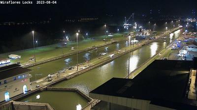 Vista actual o última desde Miraflores Locks: Panama Canal