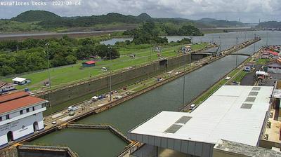 Tageslicht webcam ansicht von Miraflores Locks: Panama Canal