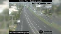 Caloundra: Nicklin Way - Buddina, Lutana Street intersection (looking north) - Day time