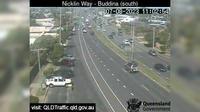 Caloundra: Nicklin Way - Buddina, Lutana Street intersection (looking north) - Jour