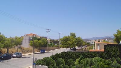 Daylight webcam view from Καλύβια Θορικού: Kalyvia Thorikou − Ymittos
