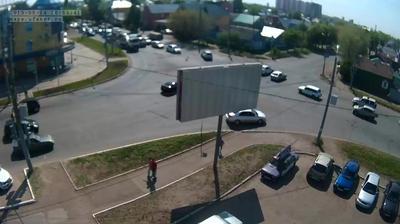 Webkamera Svetlogorka: перекресток ул. Пролетарская − ул. Ше