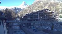 Zermatt: Zermatt, Kirchbr�cke - Overdag