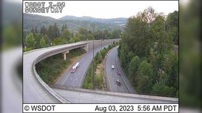 Vista actual o última desde Issaquah: I 90: Sunset Way