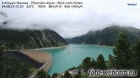 Marktgemeinde Mayrhofen: Schlegeis Stausee - Zillertaler Alpen - Blick nach Süden - Dagtid