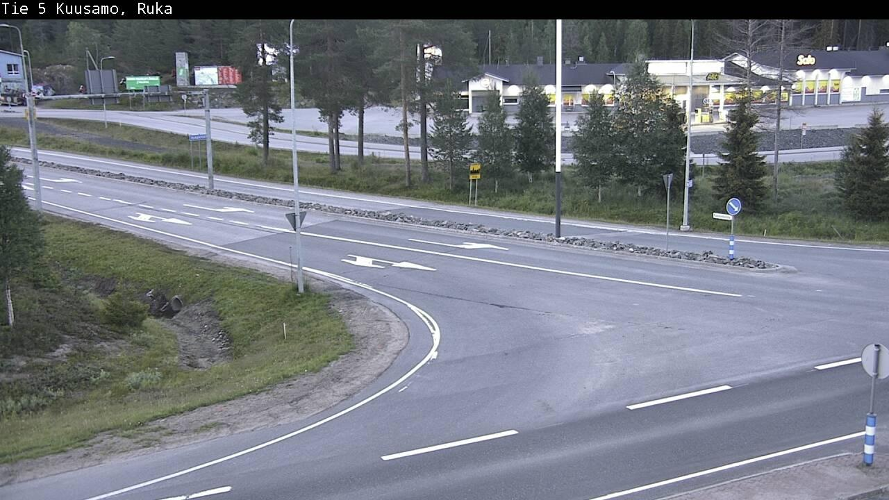 Webcam Kuusamo: Tie 5 Ruka − Tie 8692 Rukalle