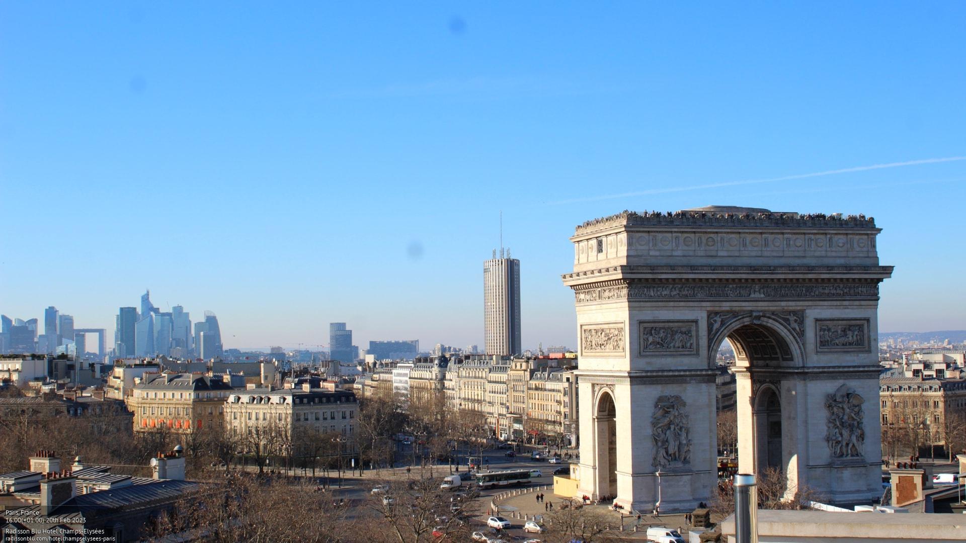 Webcam Paris: Île-de − Radisson Blu Hotel, Champs-Elysées