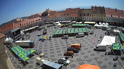 Daylight webcam view from Sibiu: Piata Mare webcam
