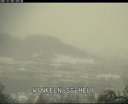 Teufen: Blick von der Menzlen (Satellit - Station) zur AFG - Arena