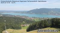 Unterwossen: Audi Skizentrum Sonnenbichl - Bad Wiessee - Blick über den Tegernsee - Overdag