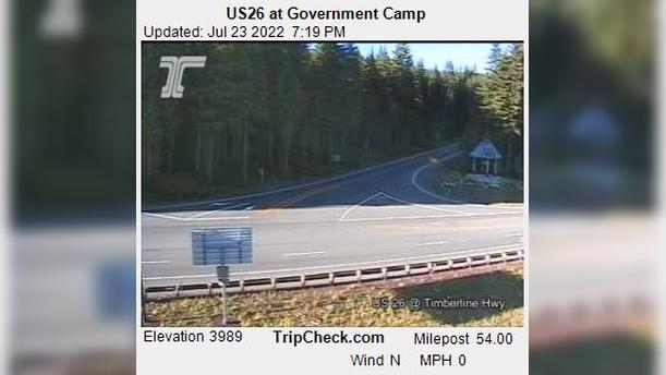 Webcam Government Camp: US26 at