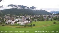 Seefeld: Residenz Hochland - Wettersteinstrasse - Tirol, �sterreich: Hotel Residenz Hochland - Tirol - Blick auf - Overdag