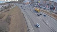 Stuvsta-Snattringe: Trafikplats V�rby (Kameran �r placerad p� E/E S�dert�ljev�gen i h�jd med trafikplats V�rby och �r riktad mot Stockholm) - Dagtid