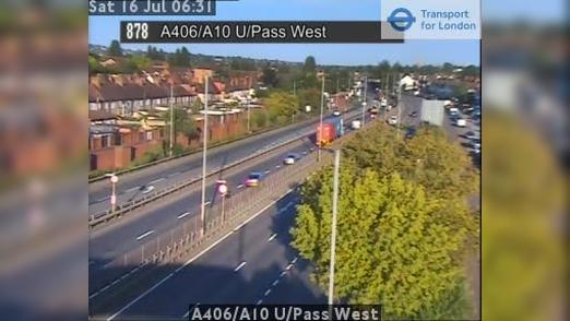 webcam Haringey: A406/A10 U/Pass West