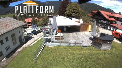 Daylight webcam view from Mittelberg: Kleinwalsertal Schirmbar