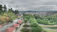 Linz: Pöstlingbergschlössl mit Blick über - Dia
