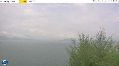 Vue webcam de jour à partir de 山寮: Waglan Island (North northwest)