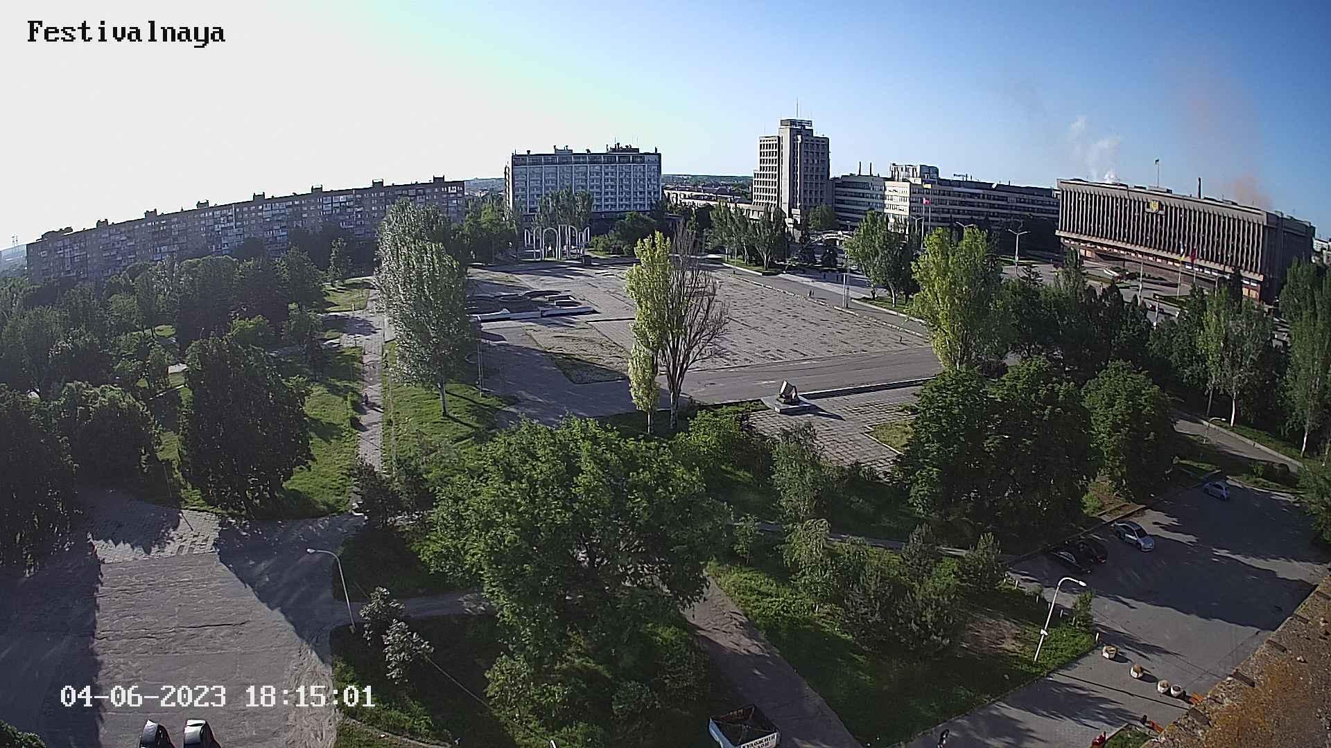 Webkamera Voznesenka: площадь Фестивальная