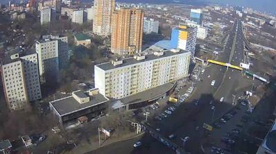 Webkamera Vladivostok: Некрасовская, 90 Вид на путепровод