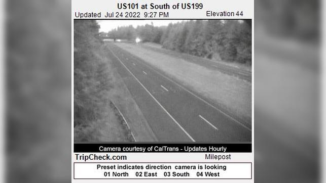 Webcam Crescent City: US101 at South of US199