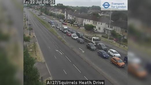 Webcam Bexley: A127/Squirrels Heath Drive