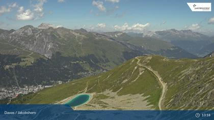 Davos: Platz - Jakobshorn, Blick Brämabüel
