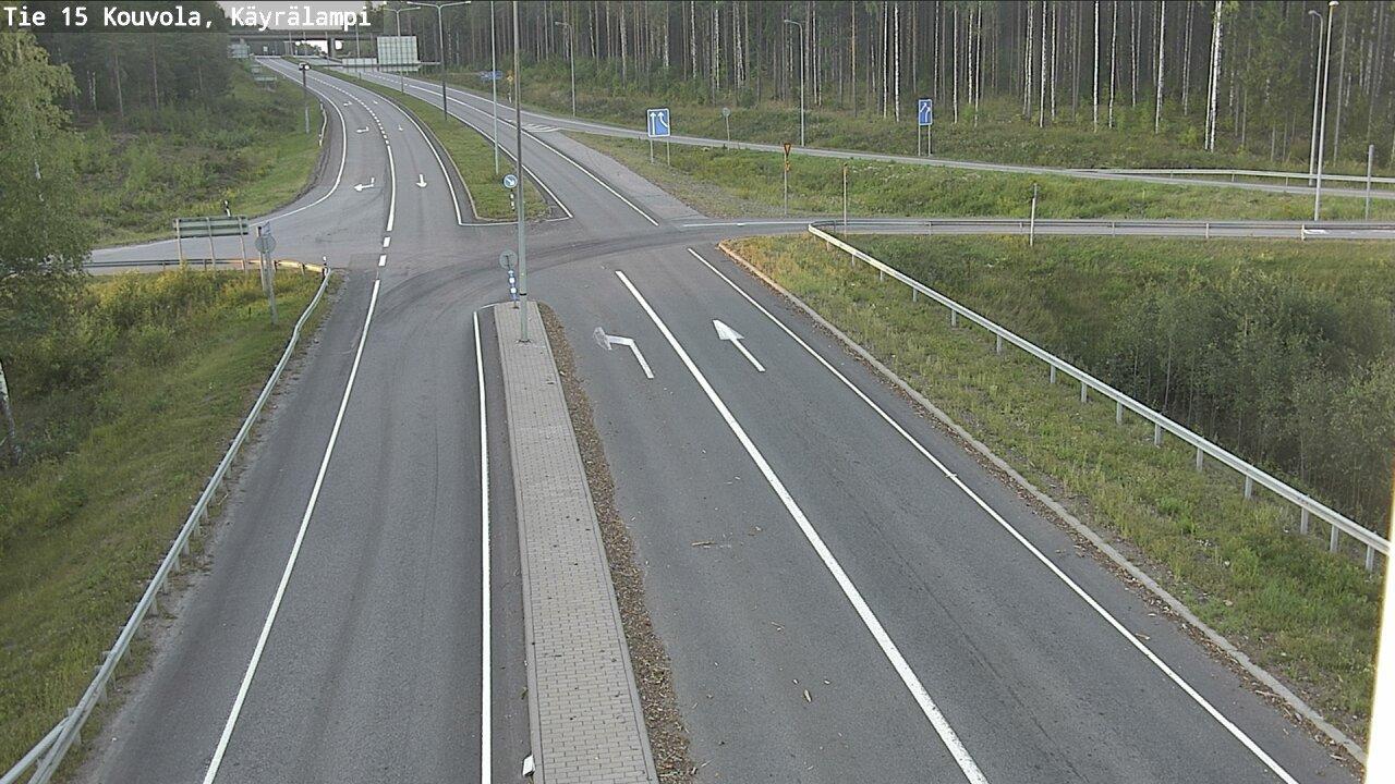Webkamera Kouvola: Tie15 − Kayralampi − Kotkaan