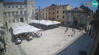 Last daylight view from Zadar: People's Square, City Lodge