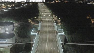 Webcam Färjenäs: Älvsborgsbron Norra norrut