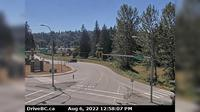 Mission › South: , Hwy  (Lougheed Hwy) at Hayward St in - looking south-west along Hayward St - El día