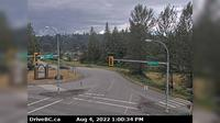 Mission > South: , Hwy  (Lougheed Hwy) at Hayward St in - looking south-west along Hayward St - El día
