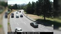 Saanich > East: , Hwy  southbound (Blanshard St) at - Rd, looking east - Overdag